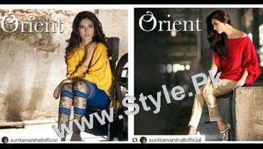 See Sunita Marshal's photoshoot for Orient Textile Mills