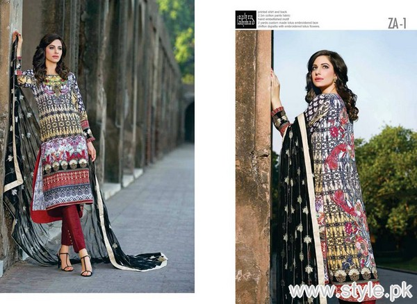 Zahra Ahmad Heritage Lawn Collection 2015 For Eid-ul-Azha 11