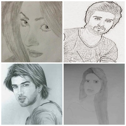 Pakistani Celebrities And Their Handmade Sketches