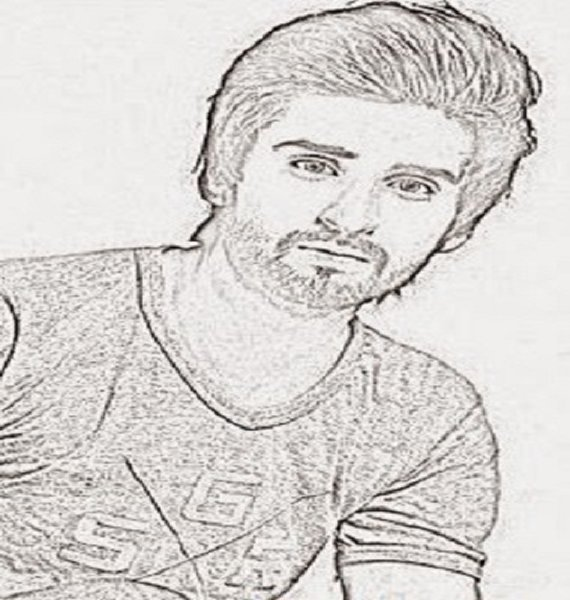 Pakistani Celebrities And Their Handmade Sketches006