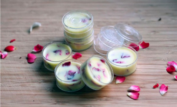 rose coconut lip balm