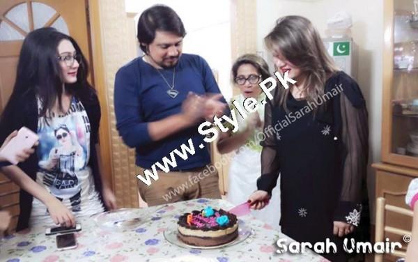 See Birthday Celebrations of Actress Sarah Umair