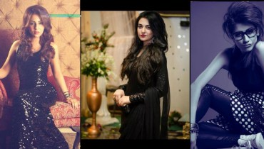 Hot Looks Of Pakistani Actresses In Black Dress