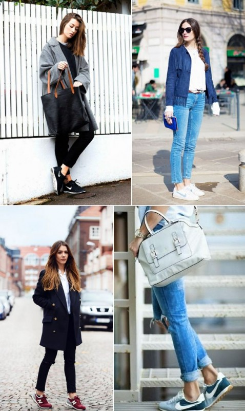 How to Manage White Dresses in Winter- white sneaker
