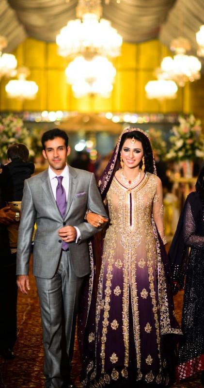 Latest Bridal Dresses purple