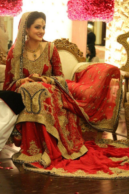 Red Baraat Bridal Dresses for girls