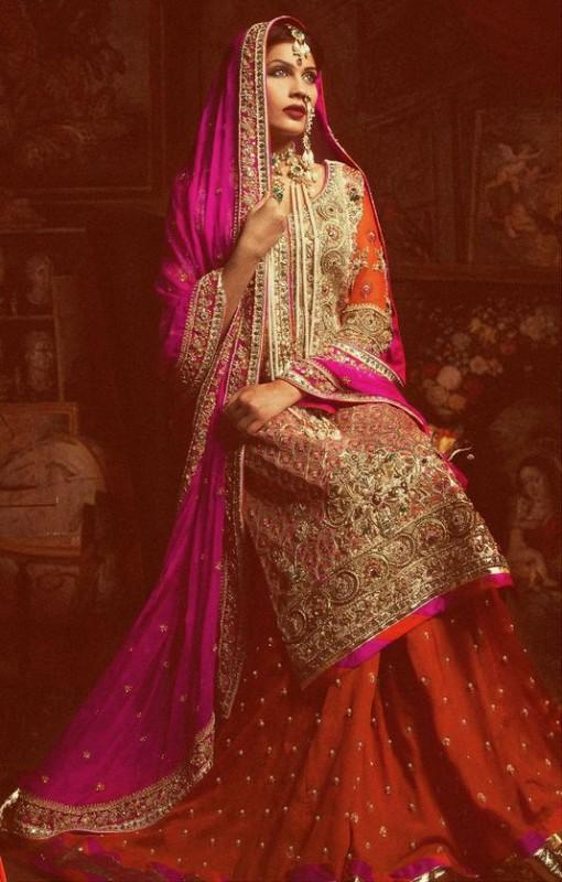 Latest Baraat Bridal Dresses for girls