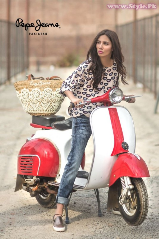 Mahira Khan for Pepe Jeans Pakistan Winter 2015 Campaign - #MKLovesPepe (2)