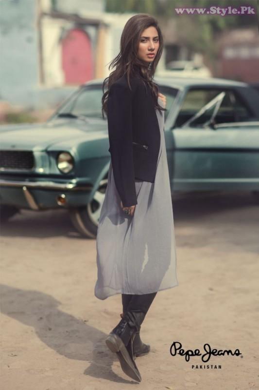 Mahira Khan for Pepe Jeans Pakistan Winter 2015 Campaign - #MKLovesPepe (4)