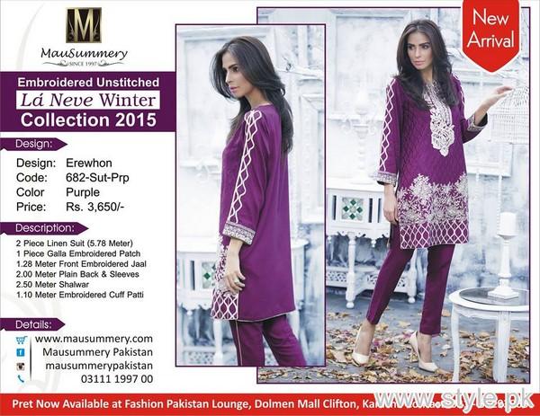 Mausummery Winter Dresses 2015 For Girls 1