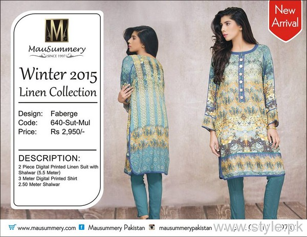 Mausummery Winter Dresses 2015 For Girls 6