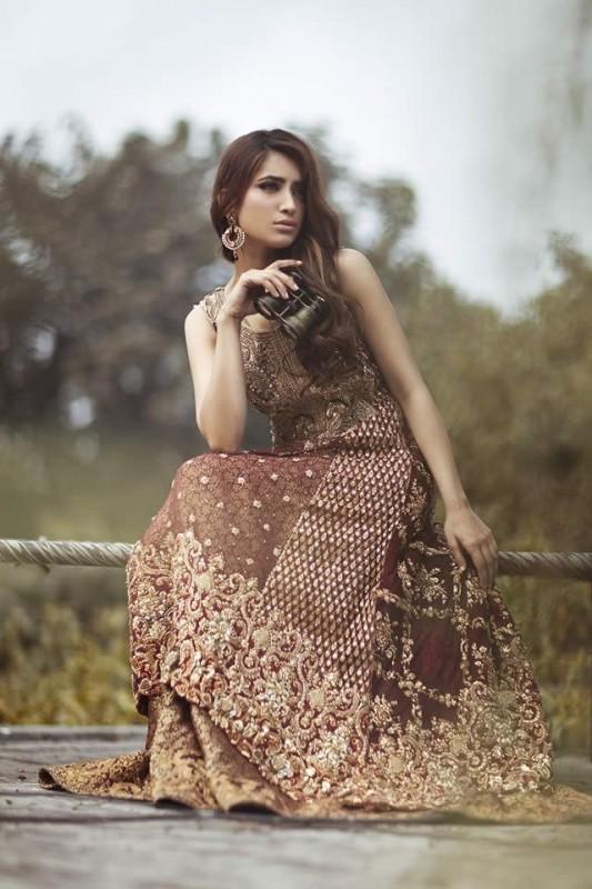 Pakistani Barat Dresses 2016- brown