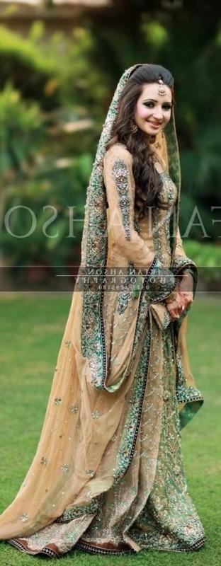 Rusty Simple Pakistani Walima dress
