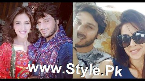 See Pictures of Ahsan Khan and Saba Qamar on the set of Muhabbat ki Akhri Kahan