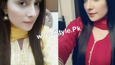 See Pictures of Ayeza Khan on the set of Tum Kon Piya