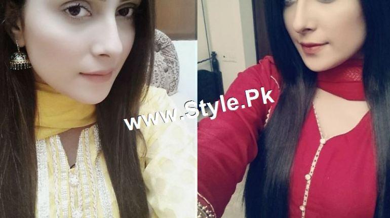See Pictures of Ayeza Khan on the set of Tum Kon Piya