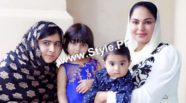See Veena Malik's and Malala's family in Dubai