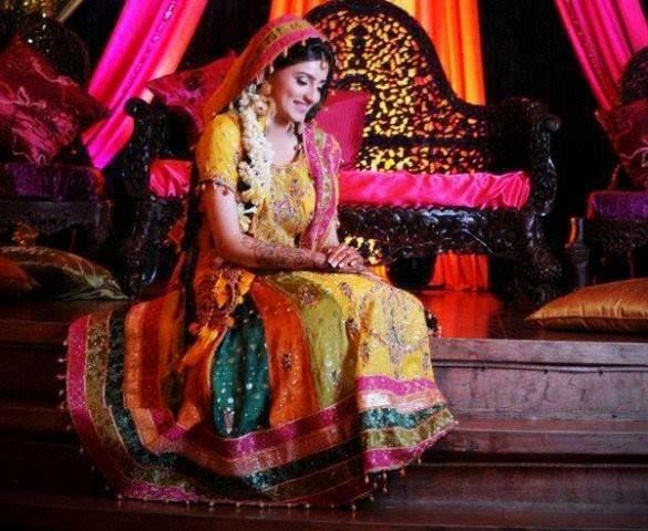 Multi Color Baraat Bridal Dresses for girls