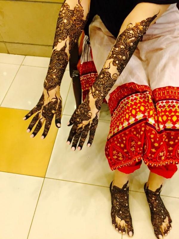 latest bridal mehndi designs 2016