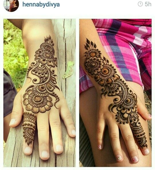 mehndi design for kid- 2016