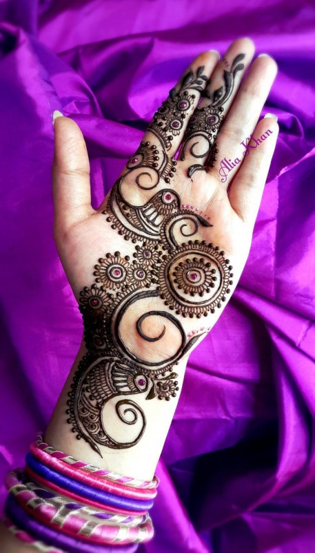 pakistani mehndi designs 2016- small circles