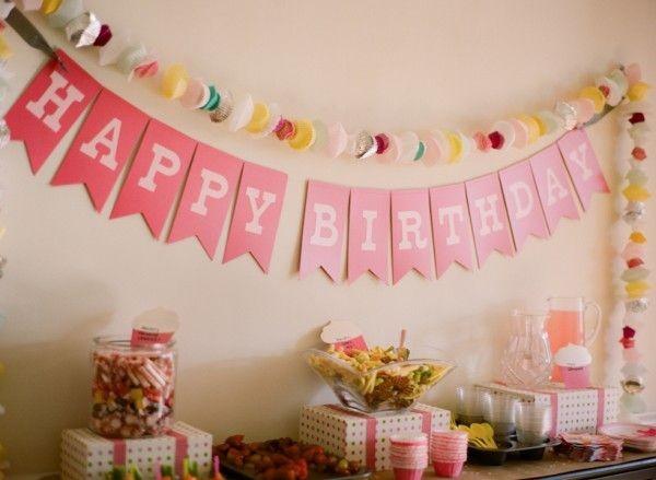 Birthday Decoration Ideas 2016 -pink