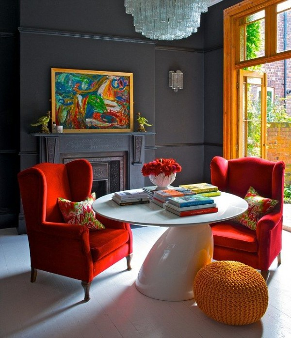 Colorful Interior Home Decoration- red yellow