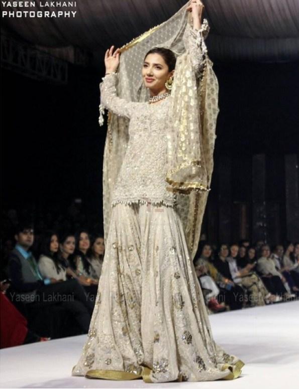 Mahira Khan wearing Umar Saeed