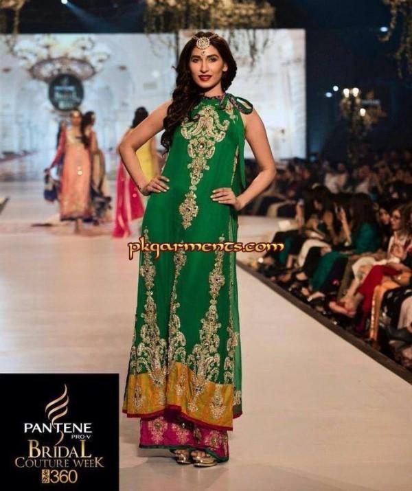 Dark Green Fancy Dresses For Girls