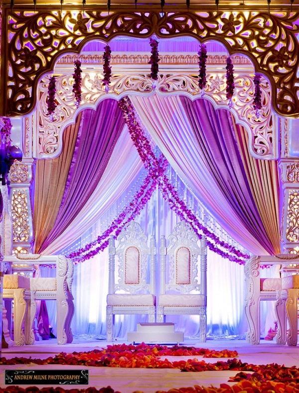Wedding  Stage Decoration Ideas 2016-purple whitw