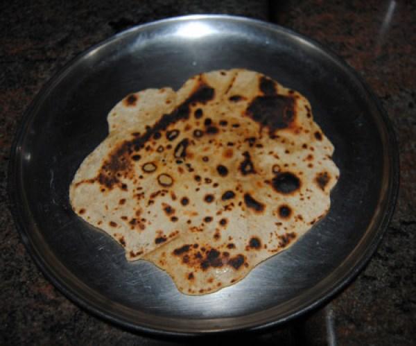 burnt roti