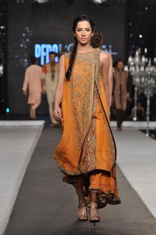 Yellow Pakistani Fancy Dresses For Girls