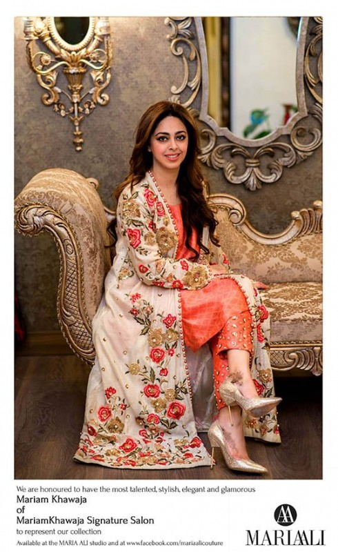 Pink and White Pakistani Fancy Dresses For Girls