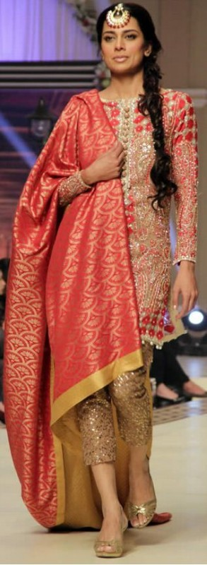 Shocking Pink Pakistani Fancy Dresses For Girls