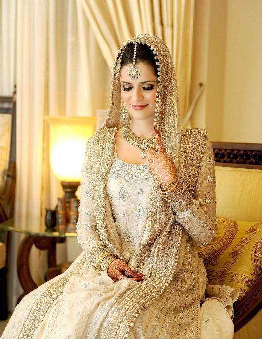 Pakistabi Bride in White- pretty