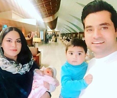 See Veena Malik is back to Pakistan with her family