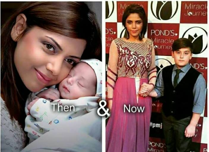 Hadiqa Kiyani With Her Adopted Son Photos