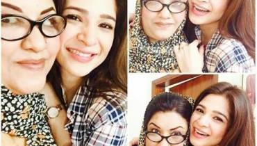 See Ayesha Omar is back on the set of Bulbulay