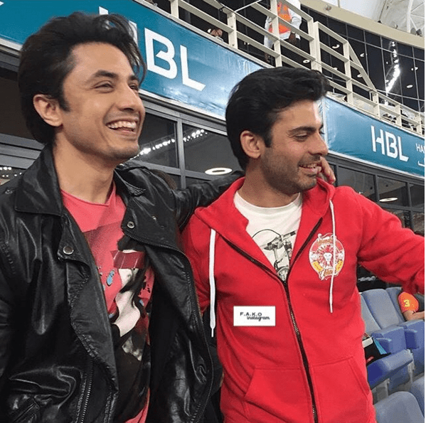 Exciting Selfies of Fawad Khan with Ali Zafar at PSL. killers