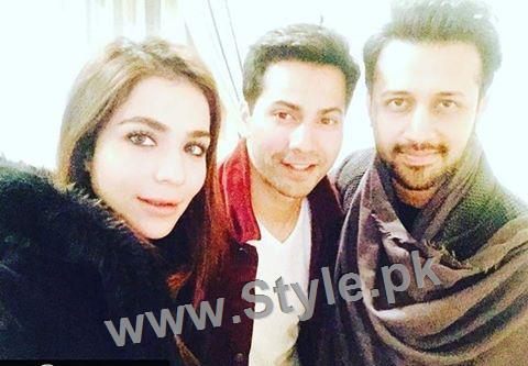 See Humaima Malick's pictures with Atif Aslam and Varun Dhawan in Dubai