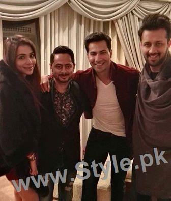 Humaima Malick's pictures with Atif Aslam and Varun Dhawan in Dubai (2)
