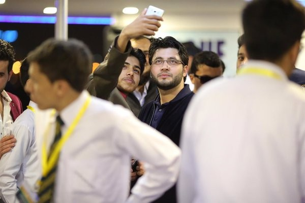 Javed Afridi with APS zalmi on the great win. pleasure