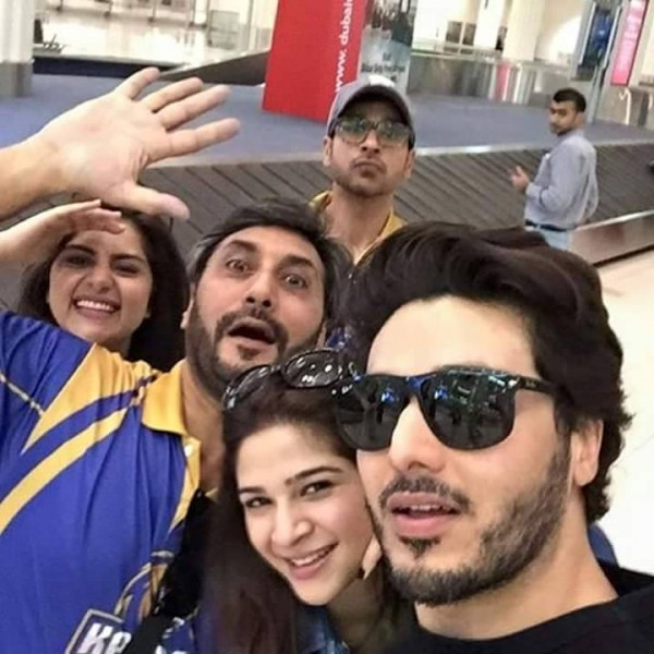 Pakistani Celebrities in Dubai to support Karachi Kings. stars