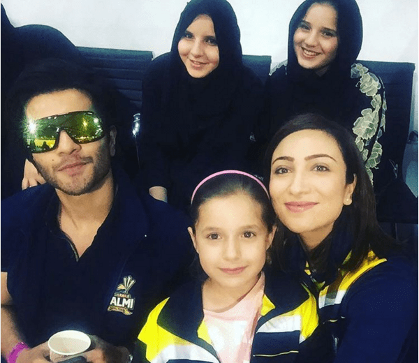 Shahid Afridi with His Daughters at PSL. champs