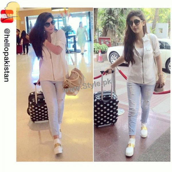 Trendy pictures of Pakistani Celebrities at Airport (5)