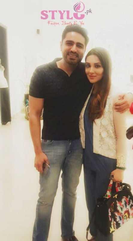 Umair Tabani & Zahra Saifullah at Zainab Chottani flagship store Launch