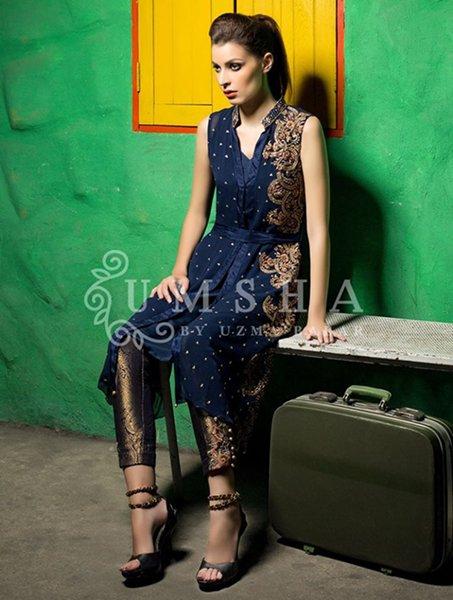 Umsha By Uzma Babar Pret Wear Dresses 2016 For Women001