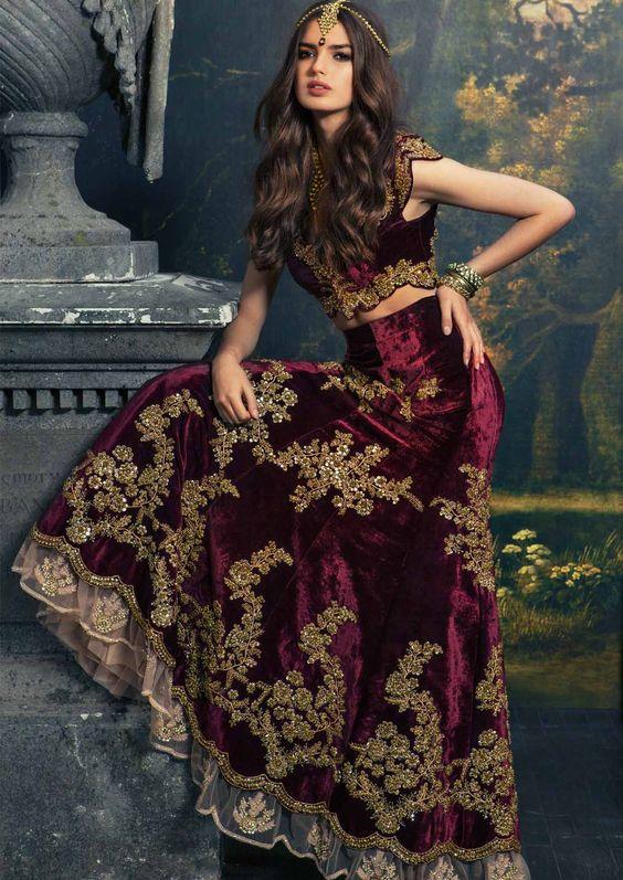Velvet Bridal dresses  latest