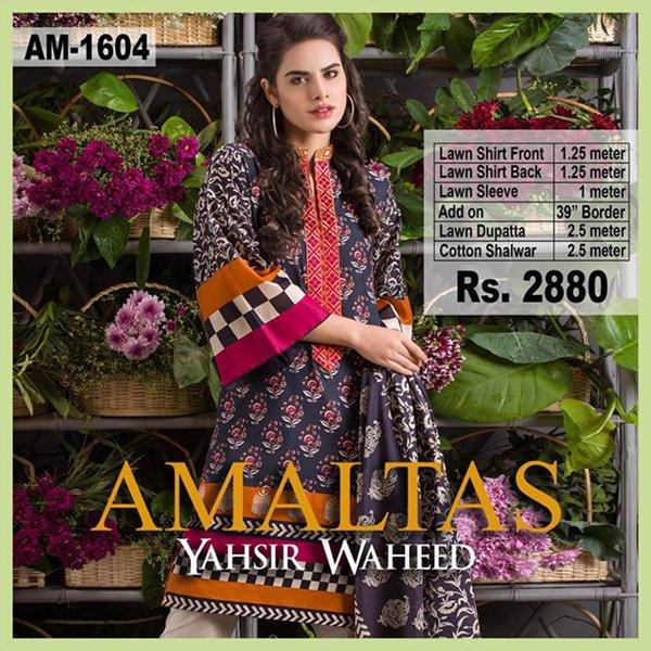 Yahsir Waheed Summer Dresses 2016 For Women006