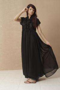 Black party wear dresses for girls; latest designs - Style.Pk
